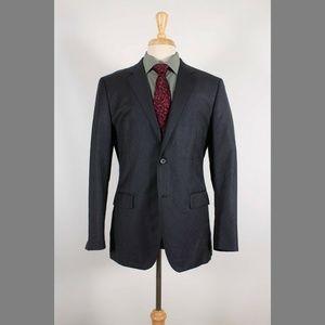 Theory Slim 42R Gray Stripe Sport Coat B210